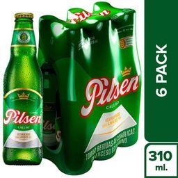 Cerveza Pilsen Botella 6 u
