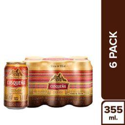 Cerveza Cusqueã'A Dorada Lata 355 Ml 6P