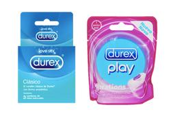 Durex Anillo Vibrador + Durex Clasico Caja X 3 Unidades