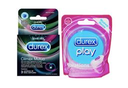 Durex Anillo Vibrador + Durex Climax Mutuo X3 Unidades
