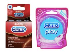 Durex Anillo Vibrador + Durex Real Feel X 3 Unidades