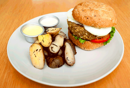 Hamburguesa Vegana + Jugo Mixto