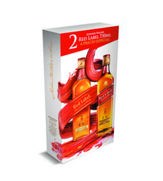 Two Pack Johnnie Walker Red Label 750 ML