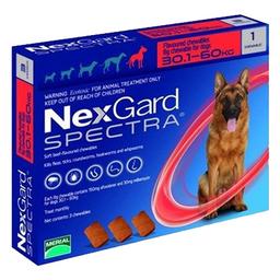Nexgard Spectra Antiparasitario Para Perro 30.1-60 Kg 1 Tableta