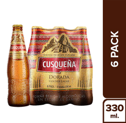 Cusqueña Six Pack Dorada Botella 330 Ml