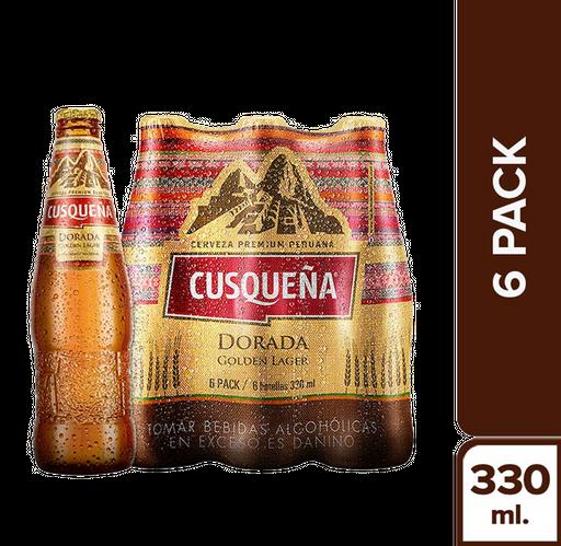 Cusqueña Six Pack Dorada Botella 330 Ml