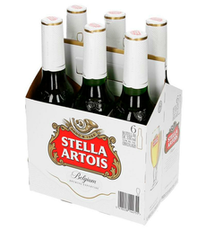 Stella Artois Six Pack Botella 330 ML.