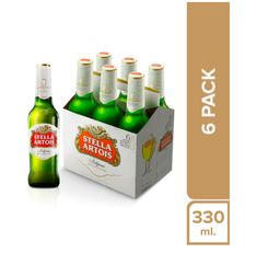 Stella Artois Six Pack Botella 330 Ml.