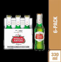 Stella Artois Cerveza Six Pack Botella