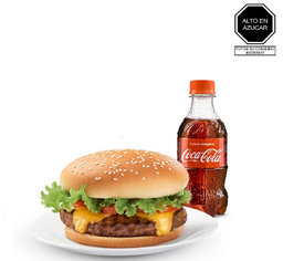 Burger Listo + Coca-Cola 300 Ml.
