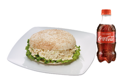 Pita de Pollo + Coca-Cola 300 ML.