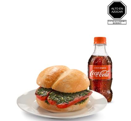 Choripan + Coca-Cola 300 Ml.