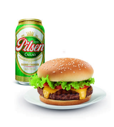 Burger Listo + Pilsen 355 ML.