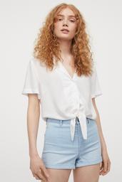 H&M Blusa White Light White 001