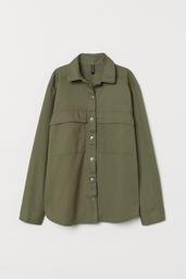 H&M Chompa Khaki Green Medium Dusty Solid Khak 002