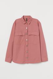 H&M Chompa Pink Medium Dusty Solid Pink 001