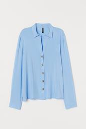 H&M Blusa Blue Light Solid Blue 007