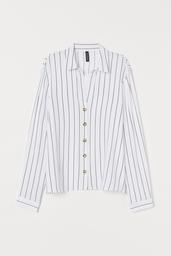 H&M Blusa White Light Navy Pinstripe 73-216.. 004