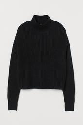 H&M Chompa Black Dark 005