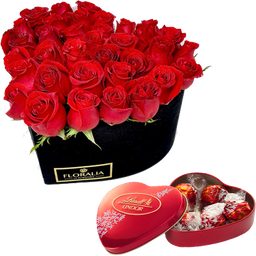 Arreglo Floral Box Heart