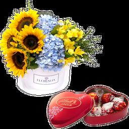 Arreglo Floral Box Girasoles