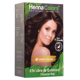 Henna Colors Tinte Para Cabello Castaño Oscuro