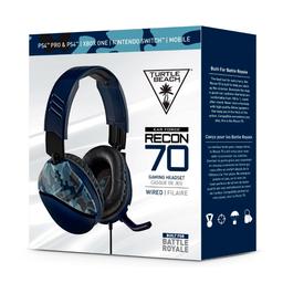 Turtle Beach Audífonos Ear Recon 70 Camuflado Azul