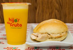 Combo Sándwich con Pavo y Jugo Light