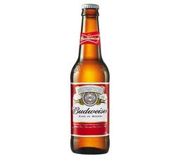 Cerveza Budweiser en Botella de 343 ml.