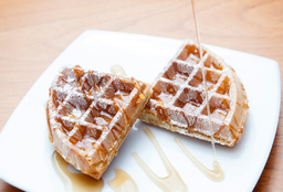 2 Waffles con Maple