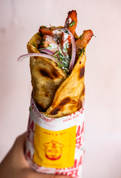 Pulled Chicken Kathi Roll (Enrollado de Pollo)