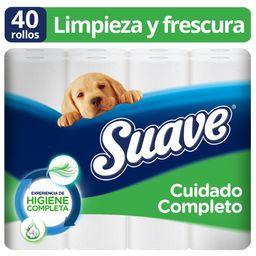 Suave Papel Higiénico Cuidado Completo 40 Rollos