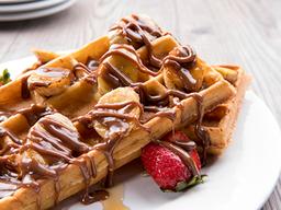 Waffle de Nutella y Banana