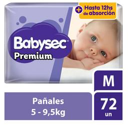 Babysec Pañal Premium Supermega Talla M