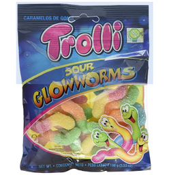 Trolli Sour Glow Worms 100 GR.
