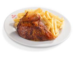 1/4 Pollo a la Brasa + Guarnición Clásica