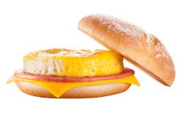 Jamón, queso y huevo