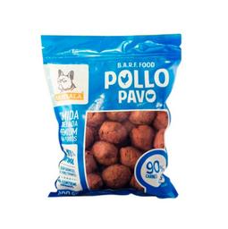 Rambala - Comida Congelada Premium para Perros-Pollo(Con Pavo)