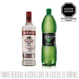 Smirnoff Vodka N°21 + Evervess Tonica