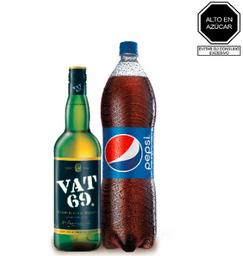 Vat 69 De 700 Ml. Y Pepsi De 1.5 Lt.
