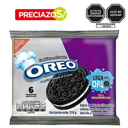 Galleta Cook Cream  Oreo 6X 36G