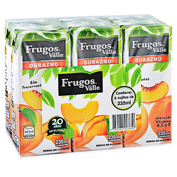 Bebida Frugos Durazno Six Pack Cj 235Ml