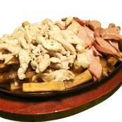 Salchipapa pollo ahumado