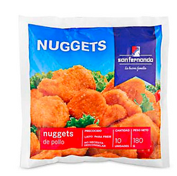 Nugget De Pollo S.Fndo Bolsa X  10 Un