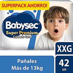 Babysec Pañal Desechable Super Premium Cuidado Total Xxg