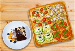 Pizza Vegana + Torta Gratis