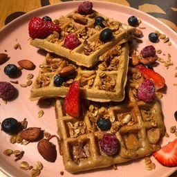 Waffles de Canela y Manzana