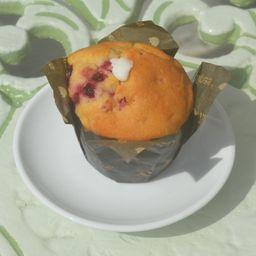Muffin de yogurt de arándano
