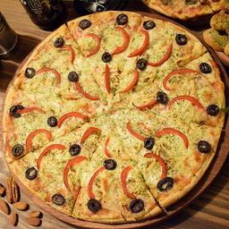 Pizza Aceituna y Pimentón Familiar