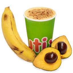Jugo de Lúcuma, Plátano, Miel, Leche, Granola